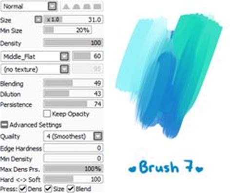 paint tool sai square brush 39 best images about paint tool sai brush settings on