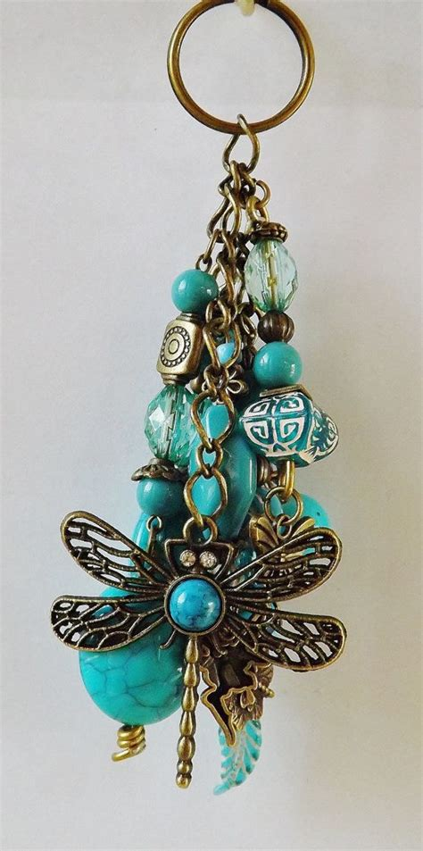 beaded keychains beaded keychains dragonfly