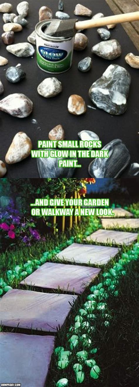 glow in the paint outdoor 26 fabulous garden decorating ideas with rocks and stones