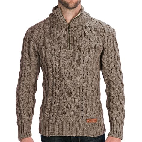 mens sweaters peregrine by j g fisherman sweater merino wool
