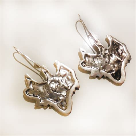 torch jewelry torch earrings in sterling silver silverbotanica