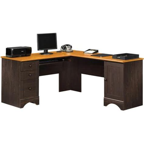 corner desk walmart sauder harbor view corner computer desk antiqued paint
