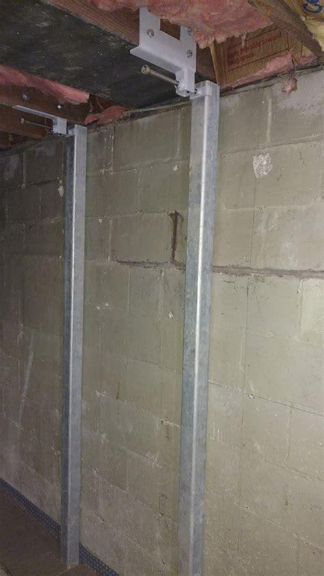 repair basement wall bowing basement walls home design