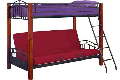 bunk beds with a futon metal futon bunk bed lancelot wood and metal bunk the