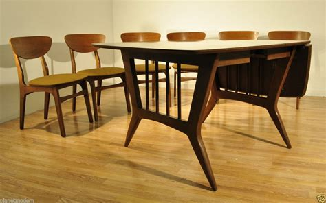 modern 1960s garrison furniture dining room table w
