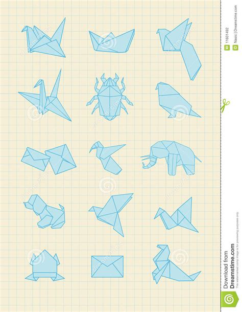 origami with notebook paper origami stock photography image 11601492