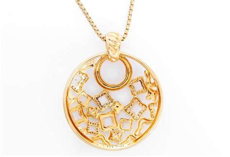 large for jewelry david yurman gold quatrefoil large pendant
