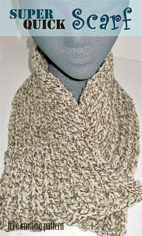 how to knit a scarf quickly free knitting pattern scarf