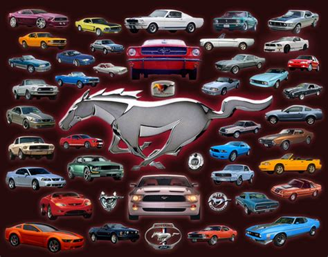 Car Collage Wallpaper by Ford Images Ford Mustang Collage Hd Wallpaper And