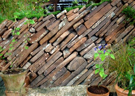 garden wall stones drystonegarden 187 angled wall