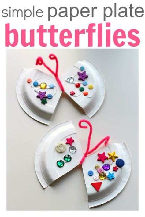 butterfly paper plate craft 15 simple butterfly crafts cake ideas for diy