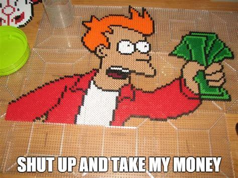 bead money shut up and take my money perler by ndbigdi on deviantart