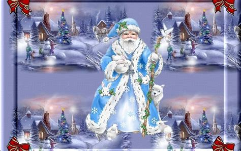 blue santa blue santa claus pictures photos and images for