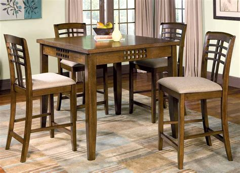 dining room counter height sets rich walnut counter height dining room set counter
