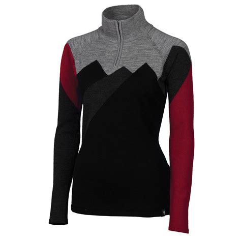 sweaters for womens neve erin zip neck sweater s glenn
