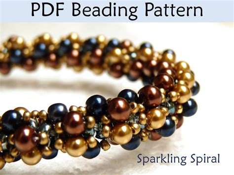 seed bead weaving patterns jewerly patterns beading tutorial sprial stitch