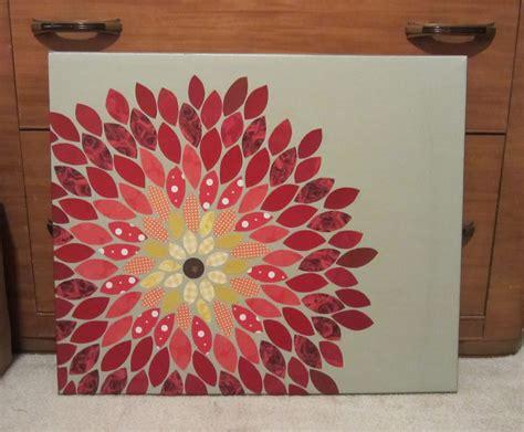 paper mosaic crafts egret effects paper flower mosaic