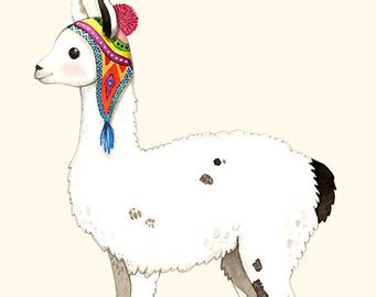 Animal Nursery Pictures by Popular Items For Llama Illustration On Etsy