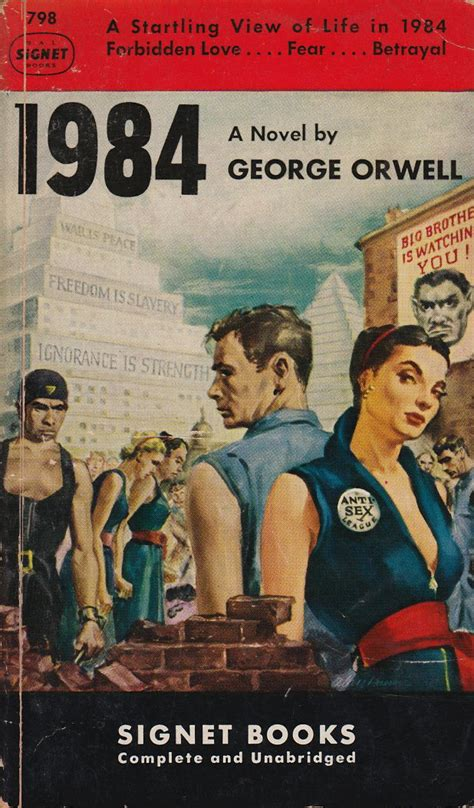 1984 book pictures george orwell 1984 signet 798 pulp cover of the week