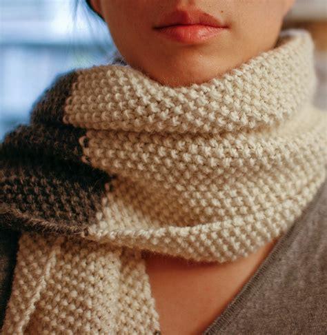Seed Stitch Scarf Knit Crochet Seed