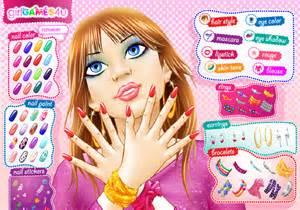 jeu de maquillage et ongles