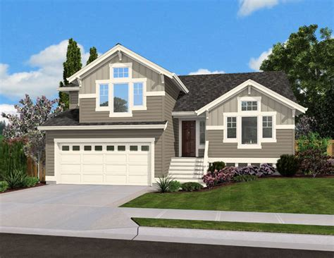 split level home designs split level home plan for narrow lot 23444jd architectural designs house plans