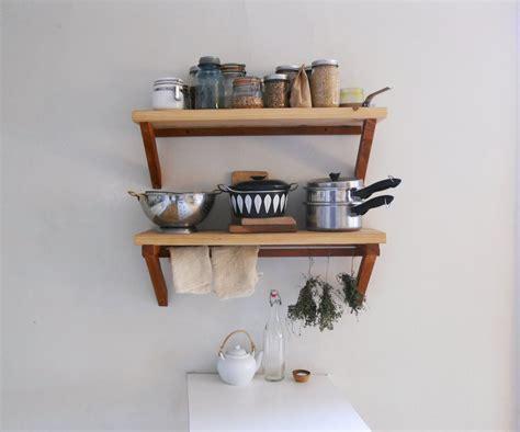 diy kitchen shelving ideas creative diy wood wall mounted kitchen shelving units with