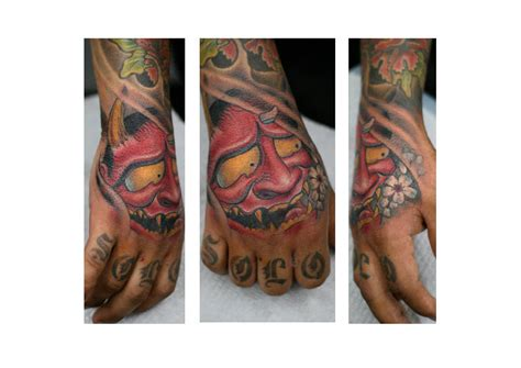 japanese hand demon tattoo by darwin enriquez