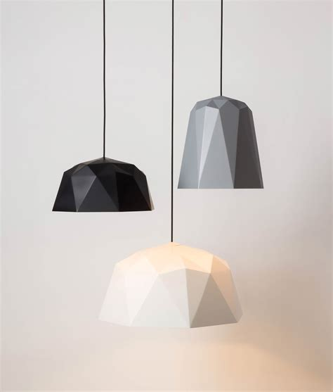 white hanging lights geometric pendant light osaka white