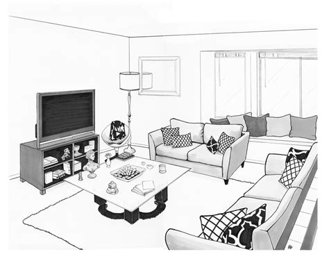 how to draw a room layout flako render drawing of andres living room