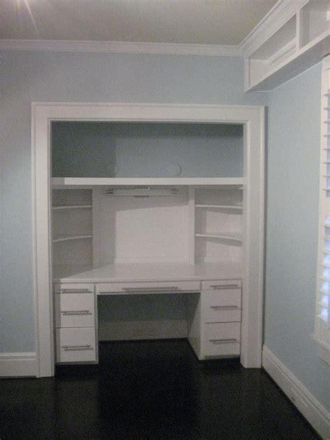 closet desks bedroom closet turned into desk carolina building