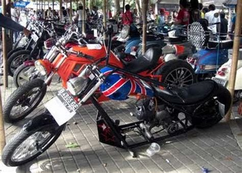 Modifikasi Vespa Model Harley by Motor Cycle Review Vespa Chooper Modification