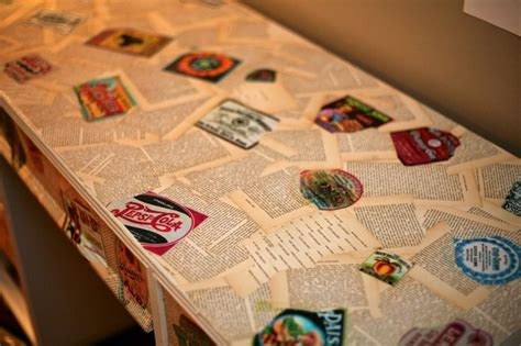 decoupage with book pages decoupage furniture using book pages and printed labels