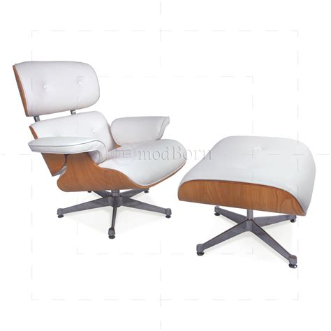eames chair white eames style lounge chair and ottoman white leather ash