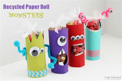Toilet Paper You Monster by Toilet Paper Roll Crafts Recycled Monster Treat Holders