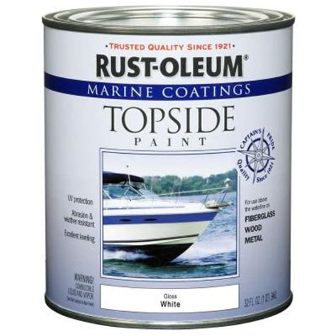 home depot paint rust rust oleum marine 1 qt white gloss topside paint 4 pack