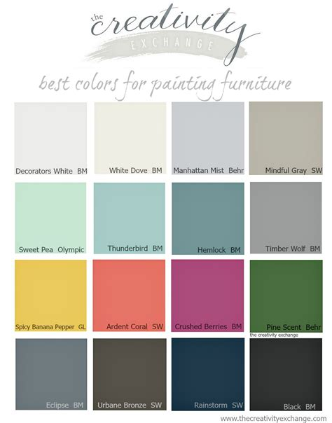 paint colors for furniture 16 of the best paint colors for painting furniture
