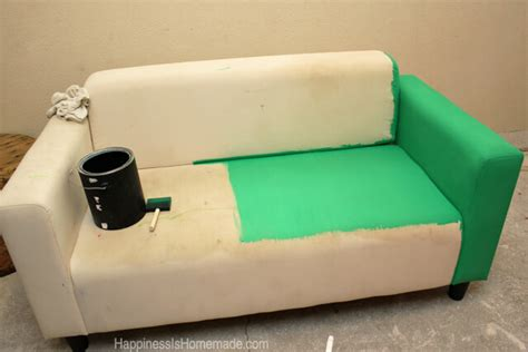 spray painting leather furniture how to easily make a sofa with paint happiness is