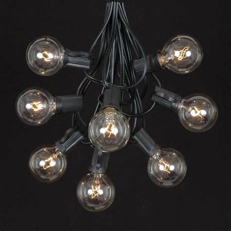 clear outdoor string lights clear globe string lights set prismatic clear globe