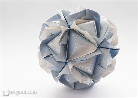origami kusudama clover kusudama by sinayskaya diagram go origami