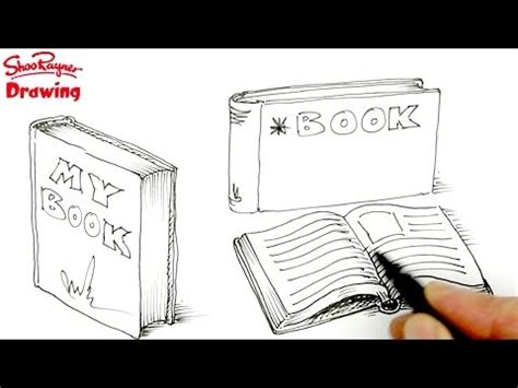 how to draw a picture of a book how to draw books