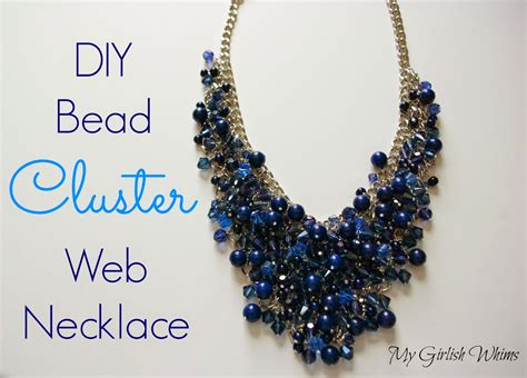 how to make beading jewelry diy bead cluster web necklace my girlish whims