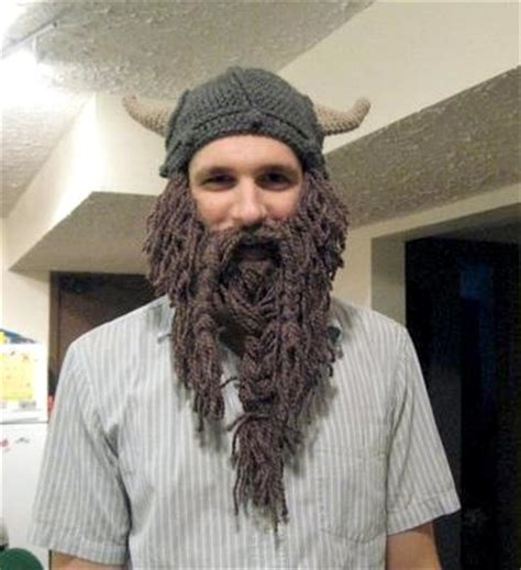 knit hat with beard my