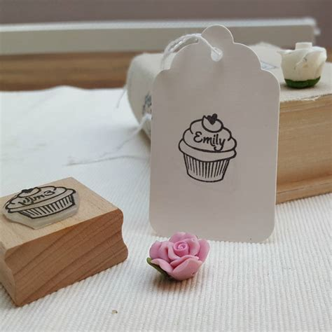 cupcake rubber st cupcake rubber personalised st for crafts and baking by