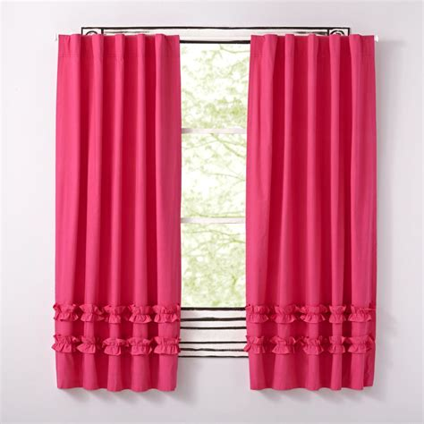 pink blackout curtains for nursery curtain decor ruffled pink curtains ideas