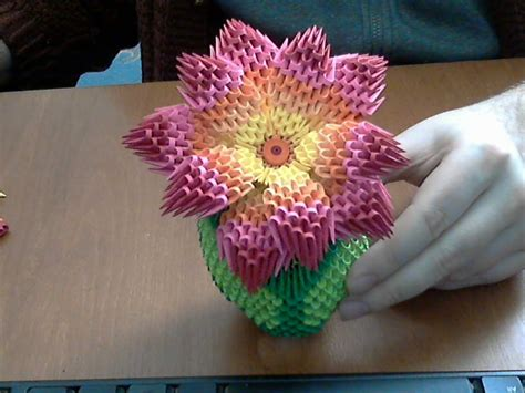 3d origami flower how to make 3d origami rainbow flower