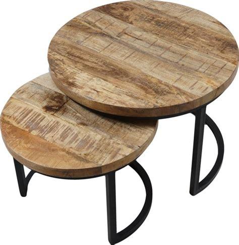 Salontafel Rond Hout Design by Bol Vlojo Rond Set Van Twee Tafeltjes Salontafel