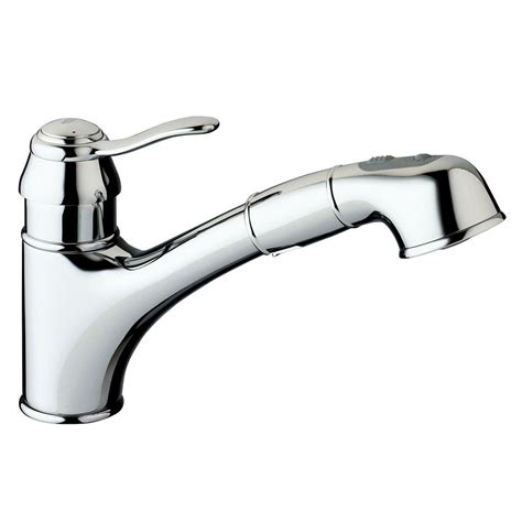 pull out kitchen faucet grohe ashford single handle pull out sprayer kitchen faucet in chrome 32 459 000 the home depot