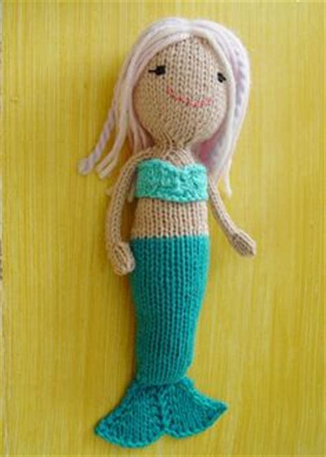 knit mermaid doll mermaid doll pdf knitting pattern knitted in the