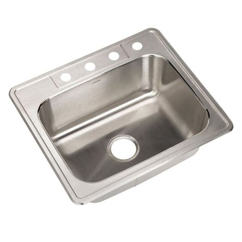 stainless steel kitchen sinks top mount glacier bay top mount stainless steel 25 in 4 single